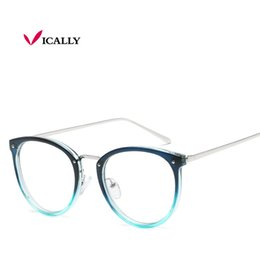 24894527892 Vintage Decoration Optical Eyeglasses Frame myopia round metal women  spectacles eye glasses oculos de grau eyewear