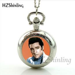 Vintage Glass Domes Necklace Australia - New Arrival Elvis Presley Pendant Pocket Watch Necklace Rock Singer Jewelry Glass Dome Necklaces Vintage Pocket Watch