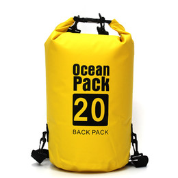 8e7f70af98 15 20 30L Ultralight Swimming Bag Dry Outdoor PVC Kayaking Storage Drifting  Waterproof Rafting Bags Dry bucket double shoulder