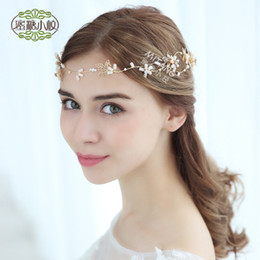 gold hair side clip NZ - European new leaves wedding hair bridal headdress simple handmade wedding jewelry side clip hairband more style into the shop pick