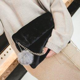 Red Fur Handbags NZ - Fashion Winter Faux Fur Clutch Bag for Girls  Crossbody Bags Women 30c26489f39f1