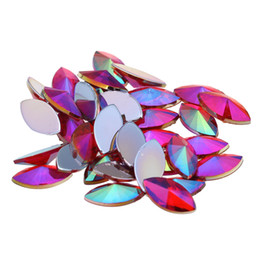 diy phone supplies 2019 - 7x15mm 2000pcs AB Colors Marquise Pointed Acrylic Rhinestone Flatback Eye Beads DIY Nails Art Phone Cases Garments Suppl