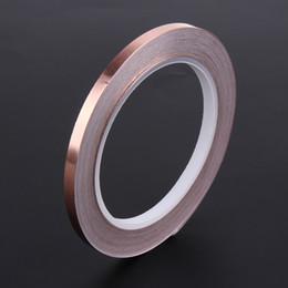 8mm*20m PURE COPPER Foil EMI single Side Conductive Shielding Tape dust free