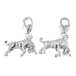 Discount fit bull - LASPERAL 10 Bull Clip On Charms. Fit Link Chain Bracelet 2016 New