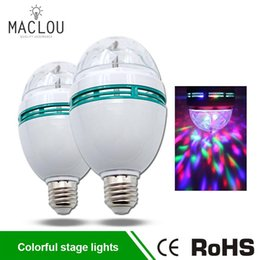Crystal Light Usa Australia - RGB LED Lamp E27 3W Crystal Stage Rotating Lamp AC 85-265V Ampoule Bombillas LED Light Bulb Disco Party Bar Lampada Night Light