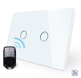 Switch Panels NZ - High Quality AU US standard, White Crystal Glass Panel, Remote Switch AC 110~250V,Wireless Remote Home Light Switch VL-C902R-11