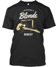 China Blonde Moment Tele Guitar - I M Having A Wholesale Tee T-Shirt suppliers