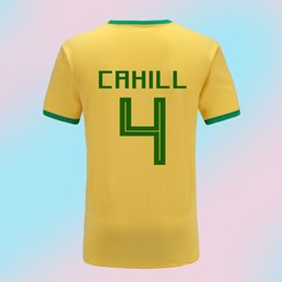 e9fe79c42ea Free Shipping Thailand Quality 2018 World Cup Jersey Australia Hom Yellow Shirt  Cheap Soccer Jerseys Accept Customized5