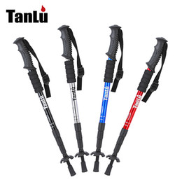Discount carbon lights - Hiking pole hiking walking stick outdoor ultra-light pole retractable