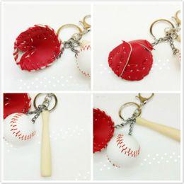 $enCountryForm.capitalKeyWord Australia - Free DHL Mini Three-piece Baseball Glove Wooden Bat Keychain Keyrings Sports Key Chain Bag Car Key Ring Gift For Man Women Wholesale G633Q F