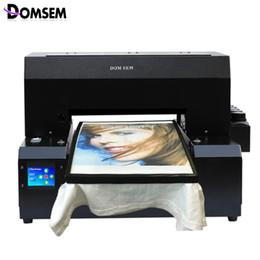 9cb60d494 DOMSEM Cloth Tshirt T-shirt T shirt UV Printer inkjet A3 Size Custom Logo Garment  Printing Machine free with ink tray