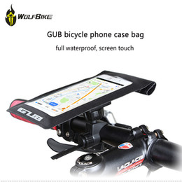 Discount bicycle phone holders waterproof - GUB Universal Bicycle Phone Case Bag Waterproof Touch Screen Holder Bag Bike Frame Front Head Tube Phone For Cycling Car