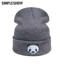 Wholesale Cute Beanies NZ - High Quality Winter Hat Hedging Cap Cute Cartoon Skullies Beanies For Women Men Warm Soft Cap 2018