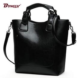 Ladies Bucket Handbags Australia - Top-Handle bags for women 2018 high quality pu leather handbags Ladies Shoulder Bags large vintage Bucket bag Female black