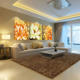 modern abstract flower paintings 2019 - flower canvas print oil pictures modular painting on modern abstract paintings 3 pieces piece wall picture art work for