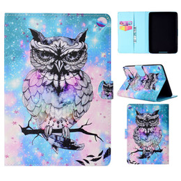character inch tablet cover NZ - Tablets Case For Amazon Kindle Paperwhite 1 2 3 6 inch Cover Fashion painting Leather Wallet Bags Card Dormancy function Tablet Cases