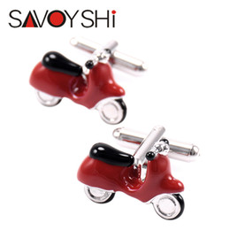$enCountryForm.capitalKeyWord UK - SAVOYSHI Fashion 3D Motorbike Cufflinks for Mens Shirt Cuff Nails High Quality Red Enamel Cuff Links Wedding Fine Gift Jewelry