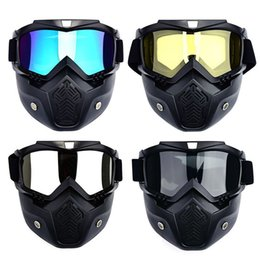 tactical helmet accessories 2019 - Motocross Goggles Mask Harley Helmet Tactical Goggles Windproof Ski Glasses Riding Cycling Racing Hiking Sport Accessori