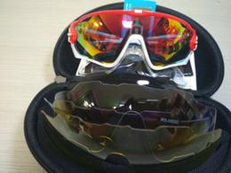 2018 CALIENTE 16 colores 4 lentes Jawbreaker Ciclismo Gafas de sol Polarizadas Ciclismo Gafas de sol Gafas deportivas Ciclismo Mountain Bike Goggles en venta