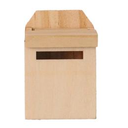 ABWE Best Sale 1/12 Wooden Mailbox Dollhouse Miniature Fairy Garden Decor Colore di legno