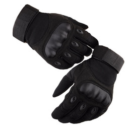 paintball army UK - Tactical Gloves Men Outdoor Military Army Paintball Airsoft Shooting Police Carbon Hard Knuckle Combat Full Finger Gloves LF038