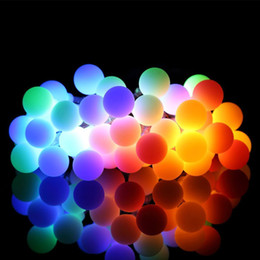 Small Solar Balls NZ - Solar Energy Lamp String 30LED Small White Ball Outdoors Waterproof Christmas Courtyard Decoration Coloured Lights String