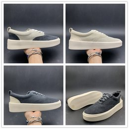 Leather men shoes itaLy online shopping - Update Fear Of God x Mens Casual Shoes The Season Suede Skateboarding Shoes Italy Luxury Slip On FOG Fashion Designer Shoes