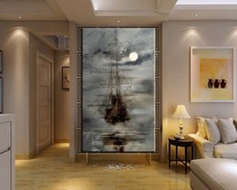 $enCountryForm.capitalKeyWord Australia - Handmade Modern Abstract Masterful Textured Oil Paintings of Ships at Sea Hand Painted Wall Artwork Seascape Boat Canvas Picture