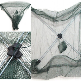 NyloN cage online shopping - Automatic Fish Shield Fishs Bag Fishing Net Hand Throw Nets Gear Tool Zither Fishery Nylon Portable Cage hh dd