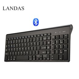 wireless for laptop 2018 - Landas Universal Bluetooth Wireless Keyboard For Mac 102 Key USB Wired Bluetooth Keyboard For IOS Android Windows Laptop