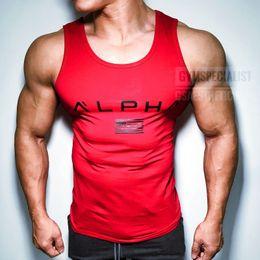 $enCountryForm.capitalKeyWord Australia - Mens Running Vest Gym Sleeveless Shirt Summer Slim Tank 2018 Men Sport Vest Top New Workout Training Man Singlet