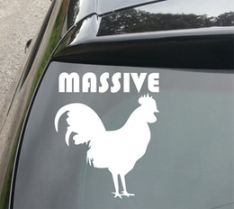 Vw Funny Decal Stickers Australia - Car Styling For Massive... Chicken Funny Van Car JDM VW DUB VAG EURO Vinyl Decal Sticker