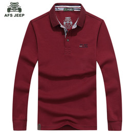 fcb670f6 Afs Jeep Hot Sell 2016 New Fashion Long Sleeved Polo T Male Youth Men 'S  Cotton Casual Polo Shirt 5 Color M -3xl Brand Men