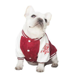 $enCountryForm.capitalKeyWord NZ - New pet dogs, large dogs, autumn and winter, double Embroidered Baseball suit, roll up, dog clothes.