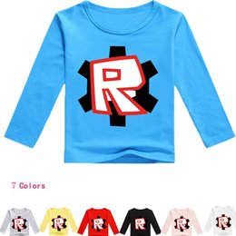 Wholesale 2018 Girls Cartoon ROBLOX Pink T shirts Kids Spring Clothes Children Boys T Shirt Cotton Tops Tee age y Birthday Gift