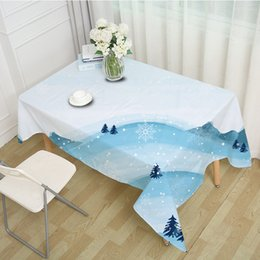 $enCountryForm.capitalKeyWord NZ - 3D Cute Snow Tablecloth Merry Christmas Winter Snow Scene Waterproof Thicken Rectangular and Square Table Cloth for Wedding
