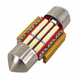 Vente en gros WLJH 4pcs 31mm Led Fête De Voiture Intérieur Lumière Lampe DE3175 9 SMD Coffre Dôme Carte Ampoule Lumière pour MAZDA 2 3 5