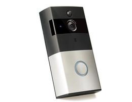 Z-BEN Porte vidéo sans fil HD PIR WIFI Sonnette Interphone 720P IP Caméra Batterie Alimentation Audio SD Card Slot Sécurité extérieure en Solde