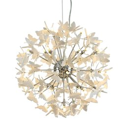 $enCountryForm.capitalKeyWord UK - OOVOV Creative Acrylic Butterfly Ball Pendant Lamp Living Room Restaurant Bar Cafe Pendant Light G4 Chandelier
