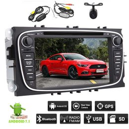 navigation camera NZ - Android 7.1 Car Stereo 2GB Octa Core Double Din Car dvd Navigation HeadUnit For Ford Focus Bluetooth WiFi MirrorLink Wireless Backup Camera