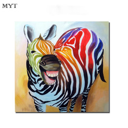 $enCountryForm.capitalKeyWord Australia - Canvas oil painting artwork canvas wall zebra animal handmade oil painting art home living room kid room wall decor picture dealer