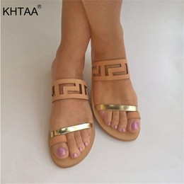5b9a58b16371 KHTAA Cut Out Gladiator Women Sandals Summer Rome Flip Flops Belt Slingback  Comfortable Clip Toe Flat Shoes For Ladies Open Toe