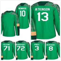 Discount foligno jersey - St. Patricks Day Columbus Blue Jackets Alexander  Wennberg Nick Foligno Cam 187f4a2ea
