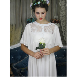 Palace Style Vintage Nightgown Women Sleepwear Victorian Dress Plus Size  Sleep Lounge Nightdress Long Cotton Nightshirt bee4656e2