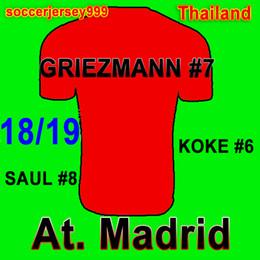 9f045983b At. Madrid Soccer jersey 2018 2019 Home Away 3rd GRIEZMANN KOKE GABI SAUL  CARRASCO DIEGO COSTA AtleTico football shirt uniforms jersey diego costa on  sale