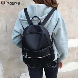 Discount teenage bags for high school - 2018 Casual Nylon Backpack Women Black School Bags for Teenage Girls High Quality Travel Shoulder Backpack