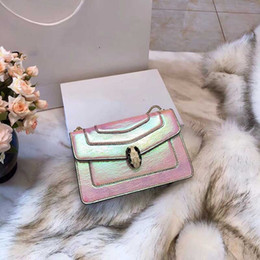 Discount faded gold chain - Designer bags famous BVG brand luxury chain shoulder cross body women designer handbags snake head laser fade out color