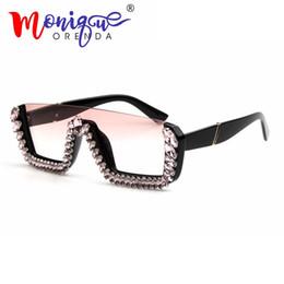 8dd895a50d Gafas de sol cuadradas de lujo mujeres diseñador de la marca para mujer  gafas de sol de gran tamaño gafas de sol grandes marcos para mujeres UV400
