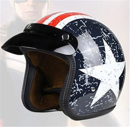 Vintage Motorcycle Helmet Xxl Australia - New Brand Open Face Motorcycle Helmet Vintage Motorbike Helmet Chopper Style Retro Helmets for silver face S-XXl