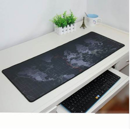 Large mouse waLL stickers online shopping - Vintage Black World Map Large Rubber Speed Game Mouse Pad Lasting Computers Mat Gaming Size mm for Any Surface
